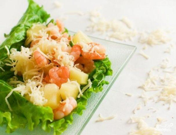 Easy and simple shrimps salad